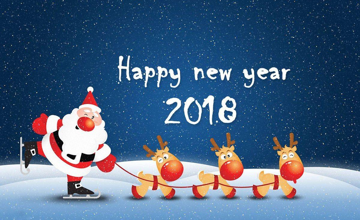 Happy New Year 2018 Greeting Cards Friends