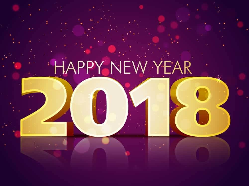 Happy New Year 2018 Your Friends Big Fabric