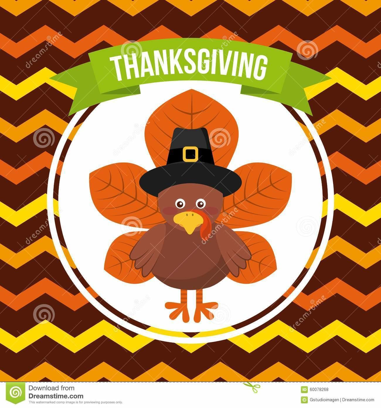 Happy Thanksgiving Stock Vector Flowers