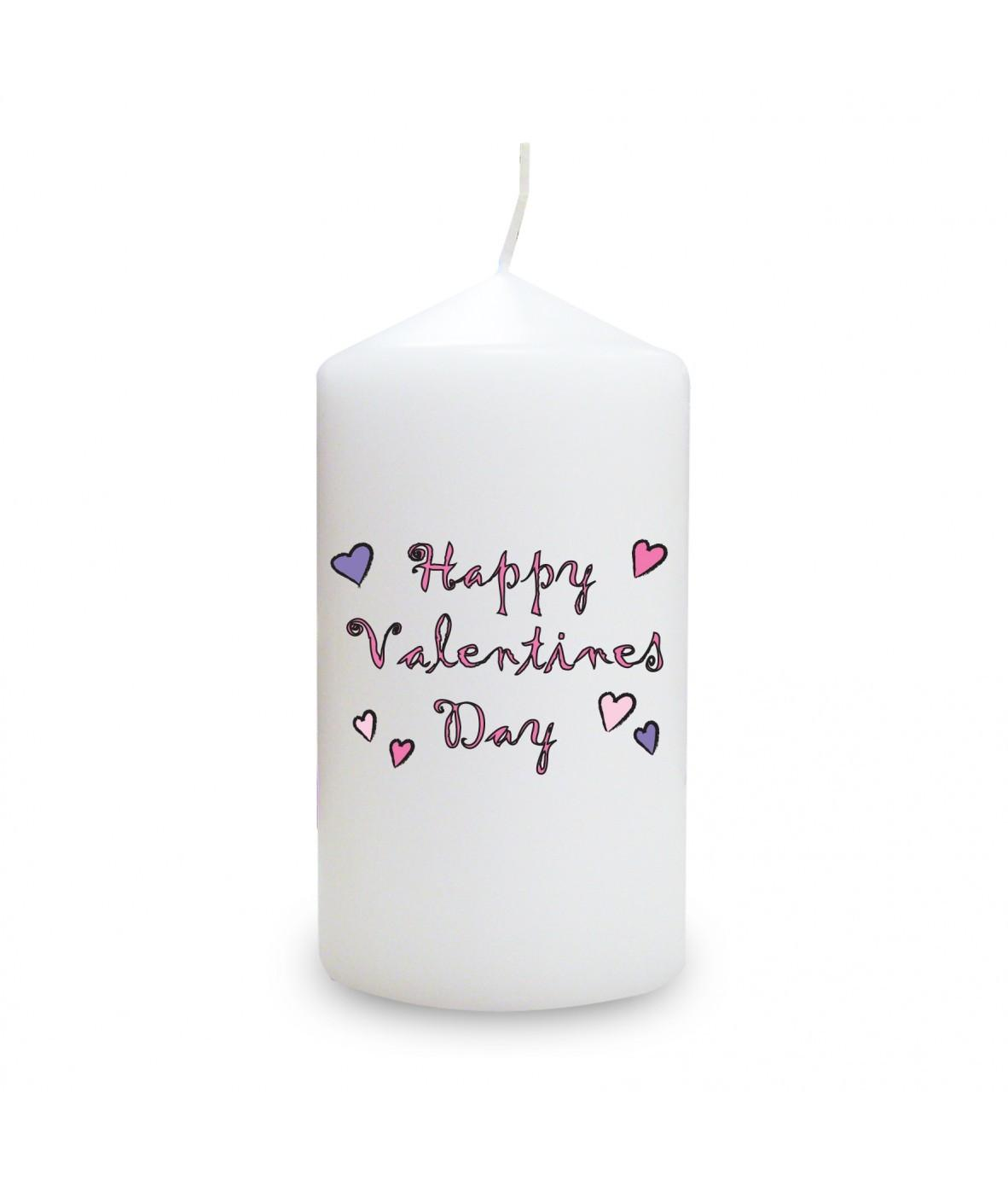 Happy Valentine Day Candle Personalised Candles