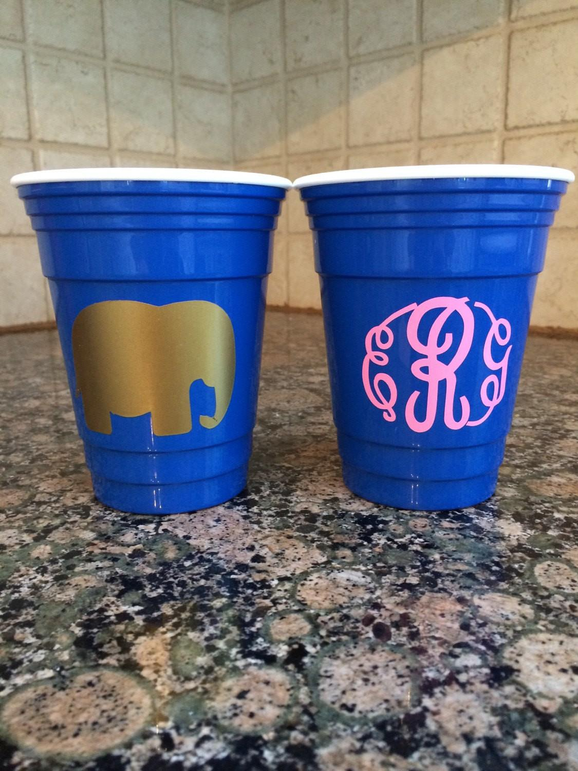 Hard Solo Party Cups Custom Plastic Fluffypinkflamingo