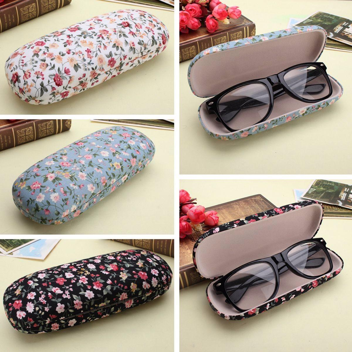 Hard Sunglass Glasses Box Floral Reading Storage