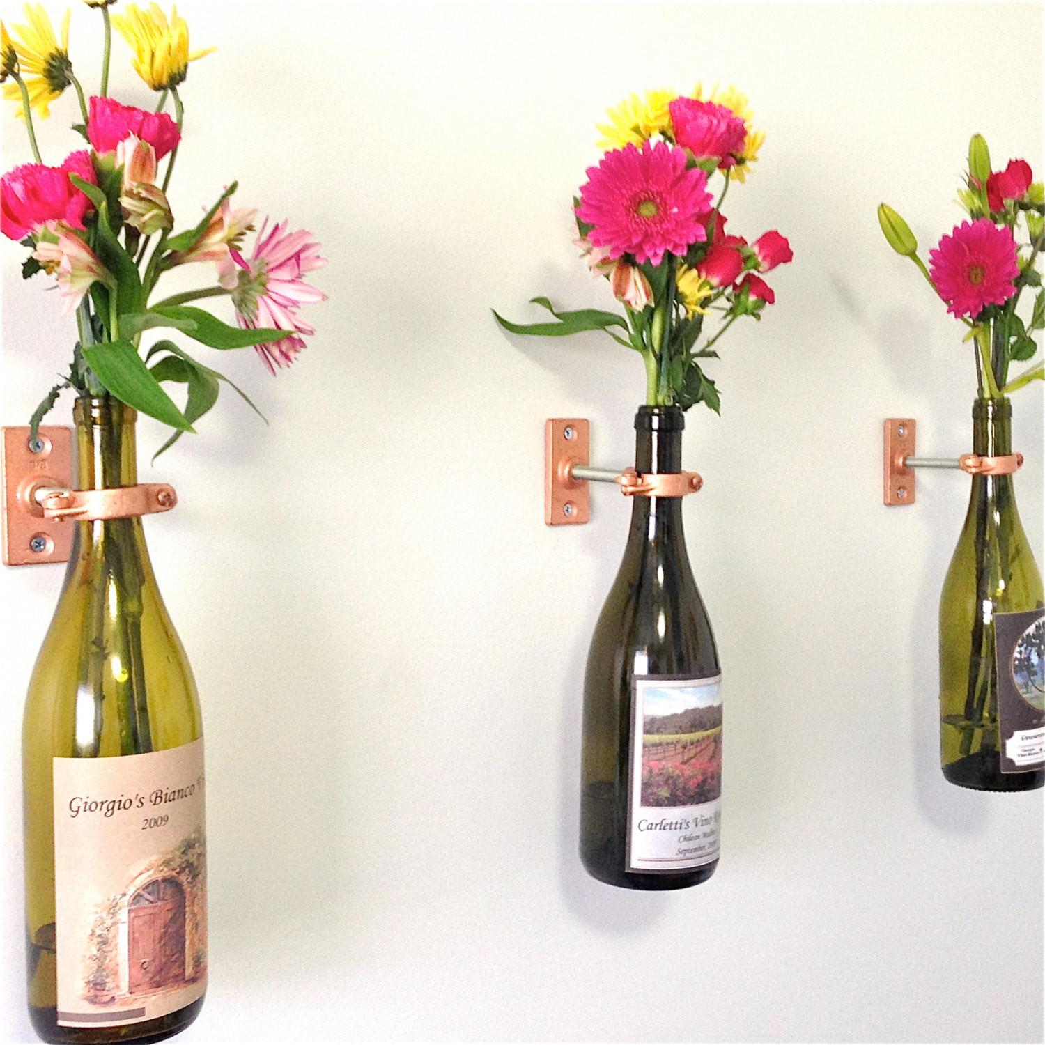 Hardware Only Wine Bottle Wall Flower Vase Kits Diy