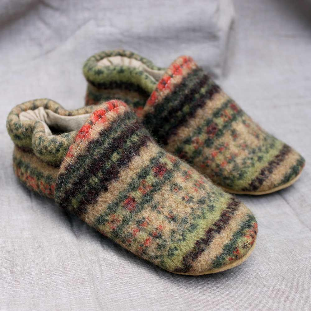 Harvest Wool Kids Slippers Leather Bottom Years Old