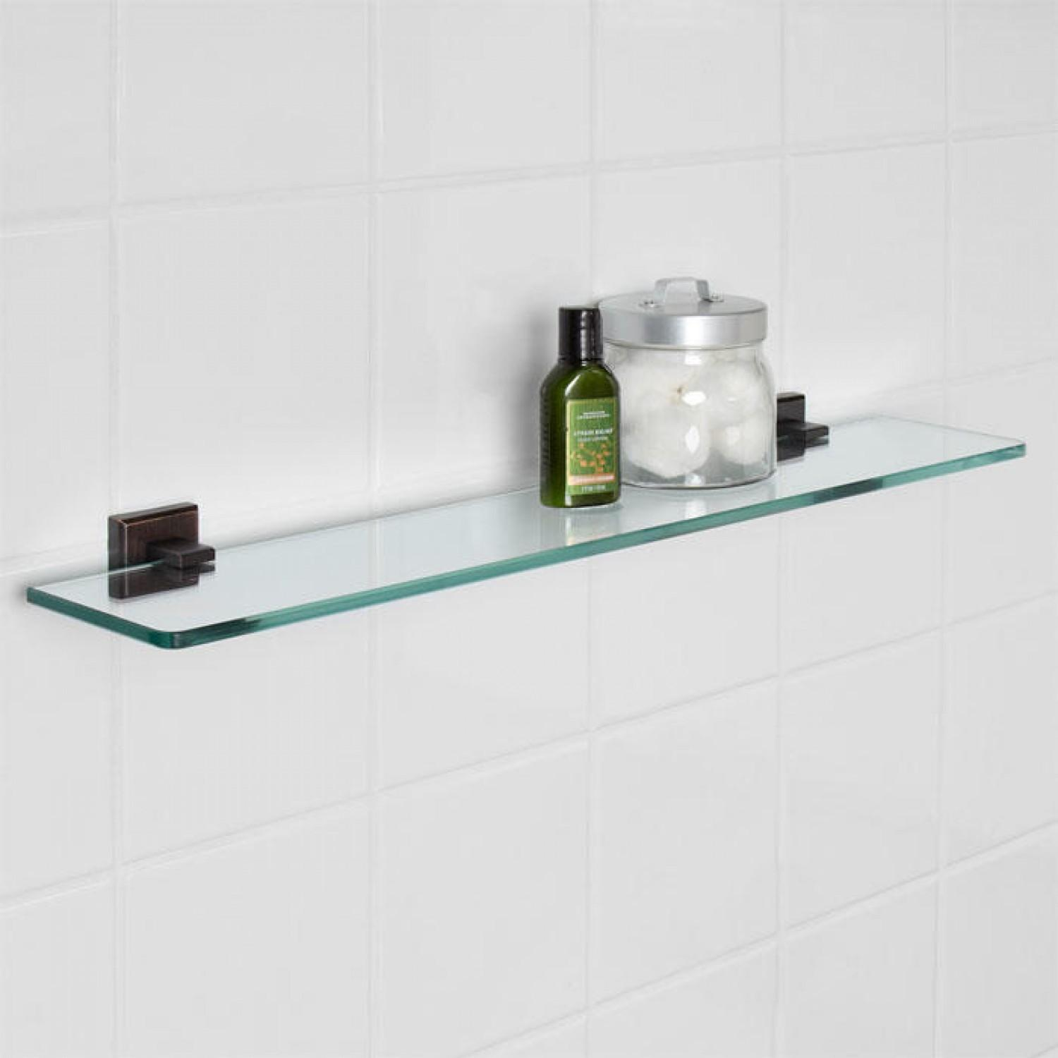 Haskell Tempered Glass Shelf Bathroom