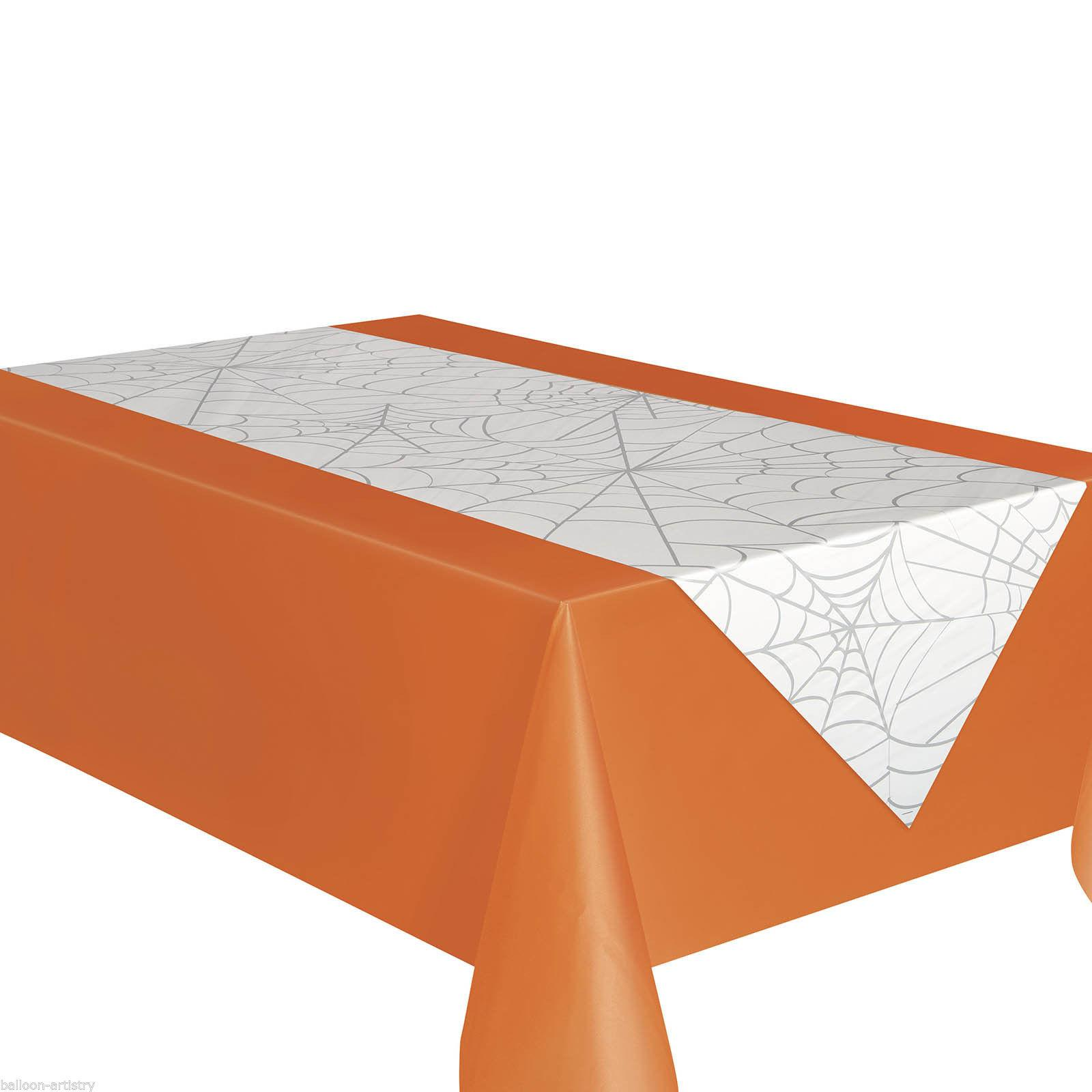 Haunted Halloween Spooky Spider Web Party Table Runner