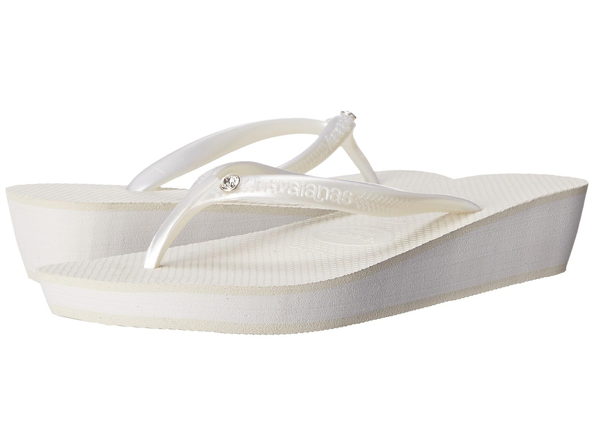 Havaianas Highlight Glamour Flip Flops White