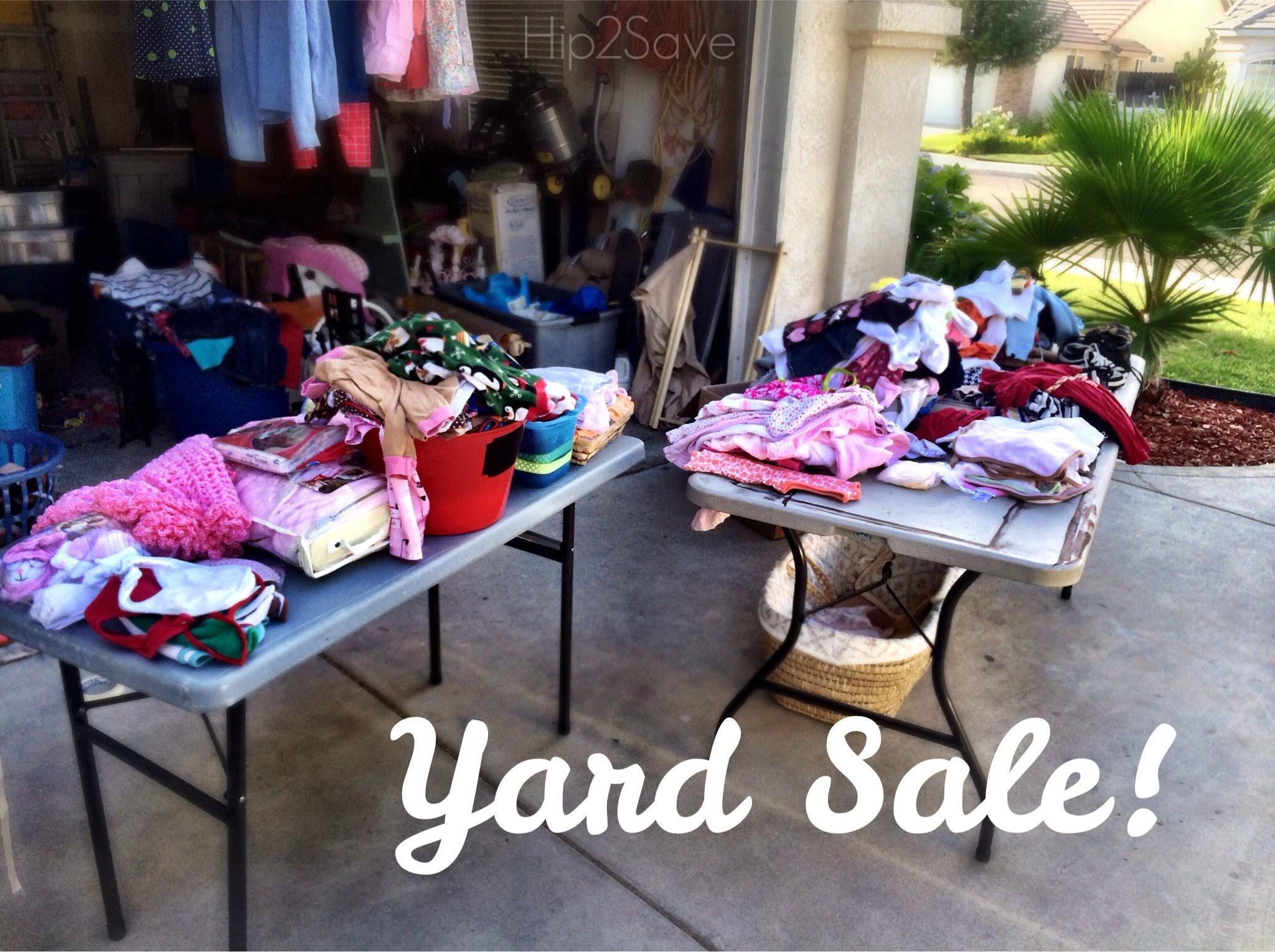 Have Yard Sale Tips Packing