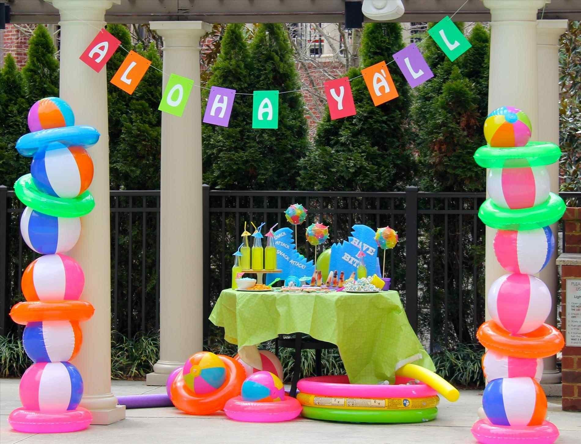 Hawaiian Backyard Party Ideas Fence Gogo Papa