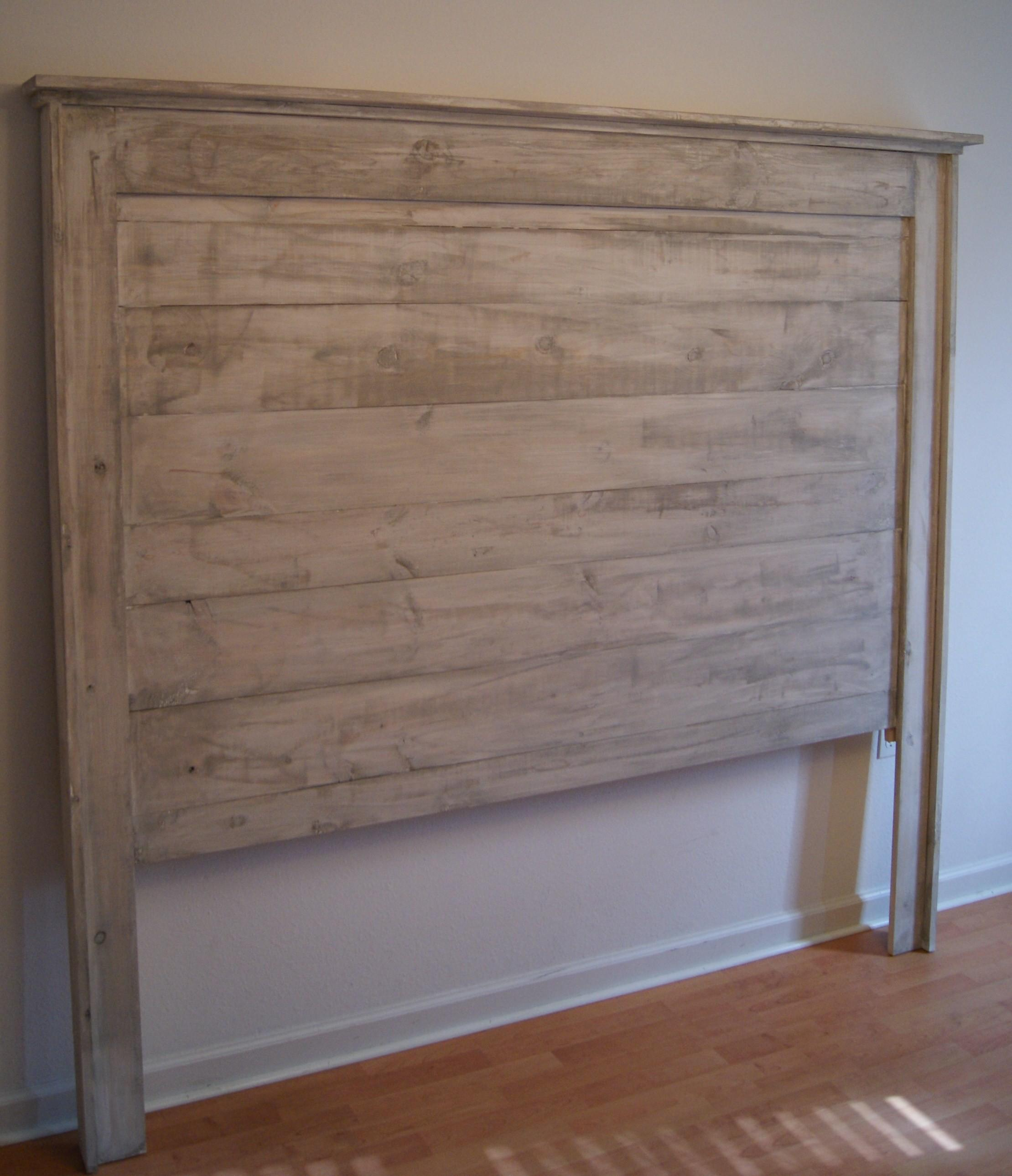 Headboard Queen Bed Shabby Chic Weathered White