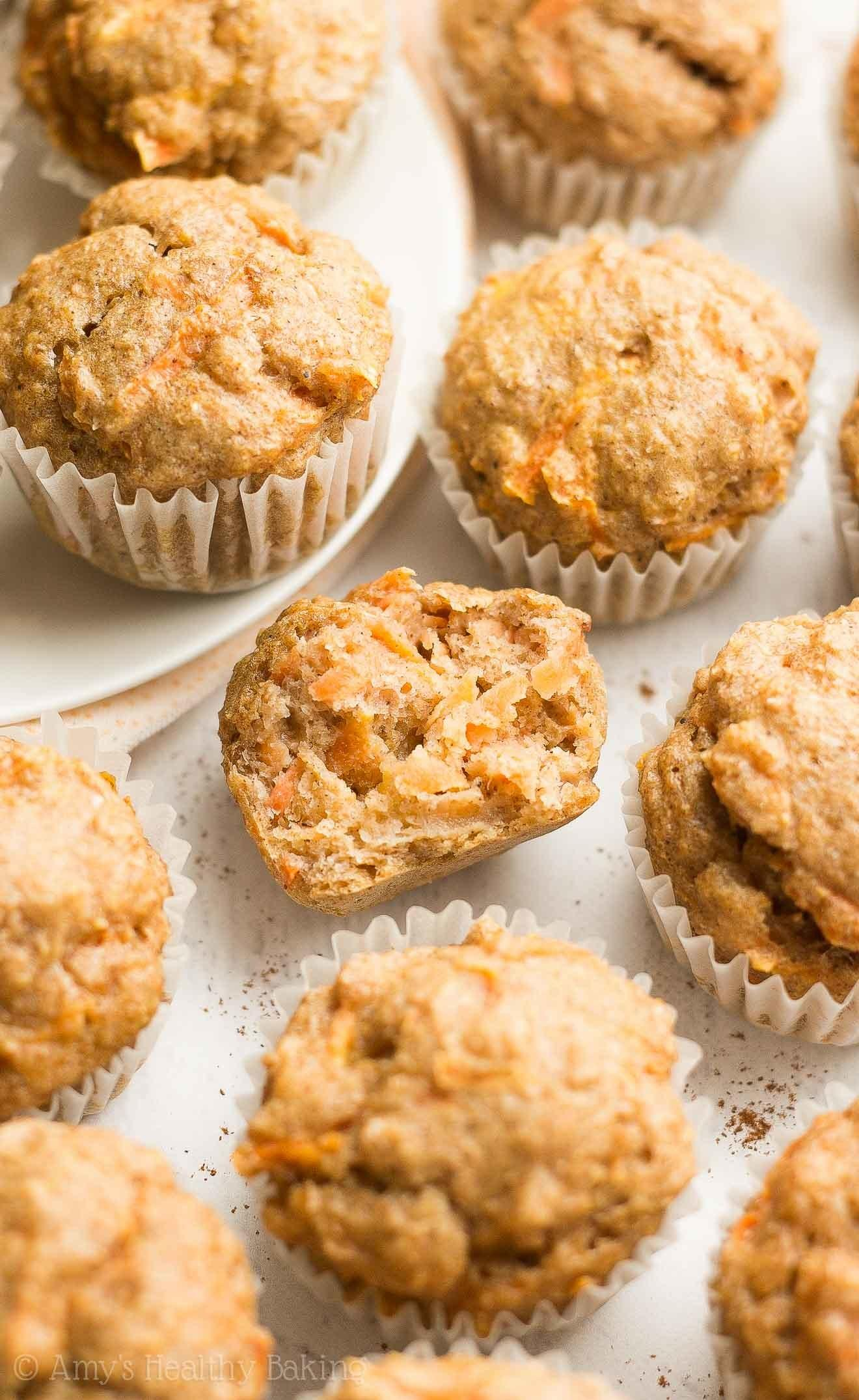 Healthy Carrot Cake Mini Muffins Amy Baking
