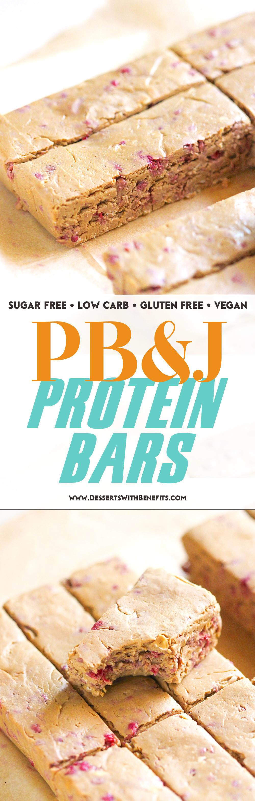 Healthy Peanut Butter Jelly Diy Protein Bars Recipe