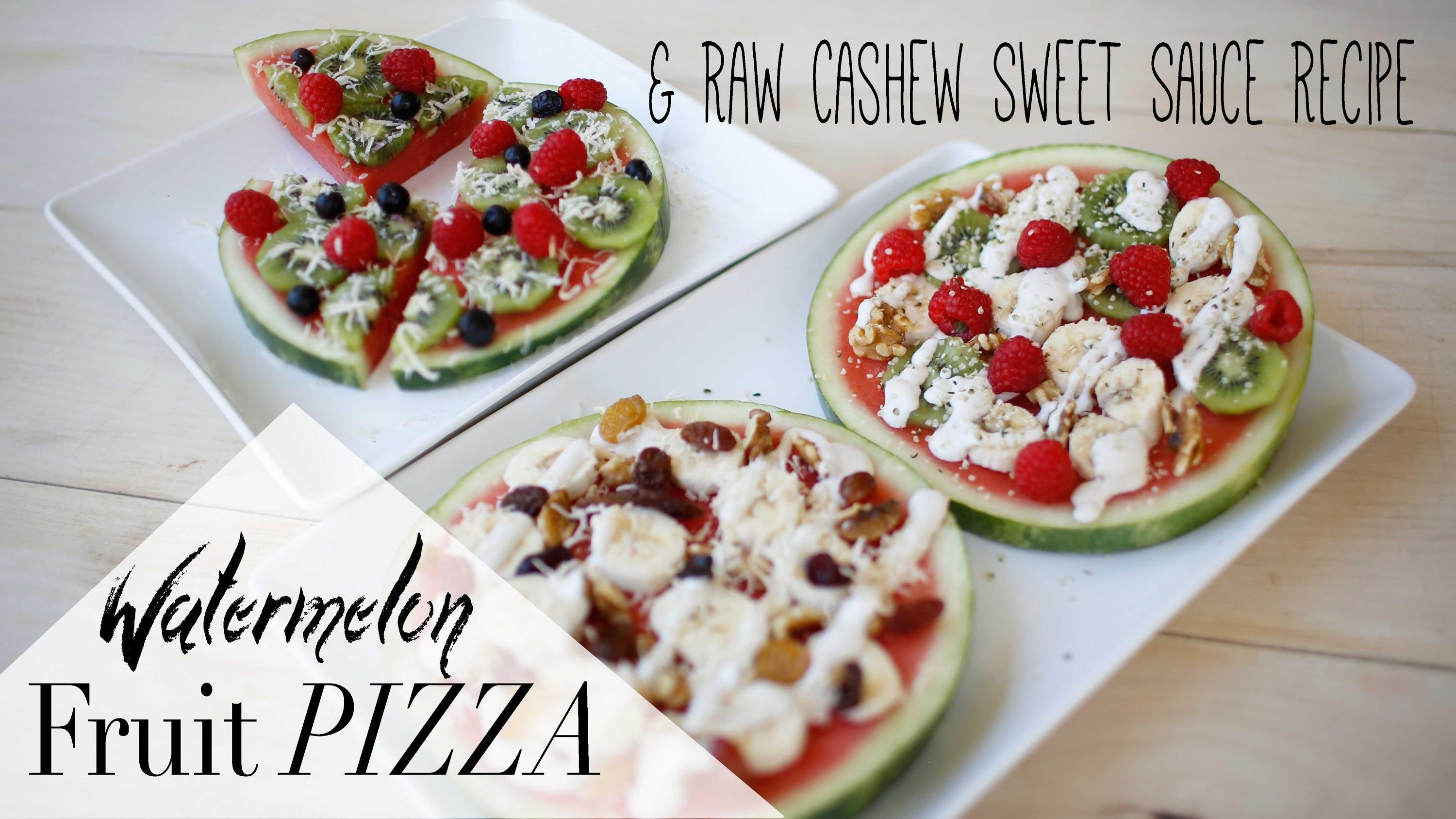 Healthy Summer Snack Vegan Watermelon Fruit Pizza Ann