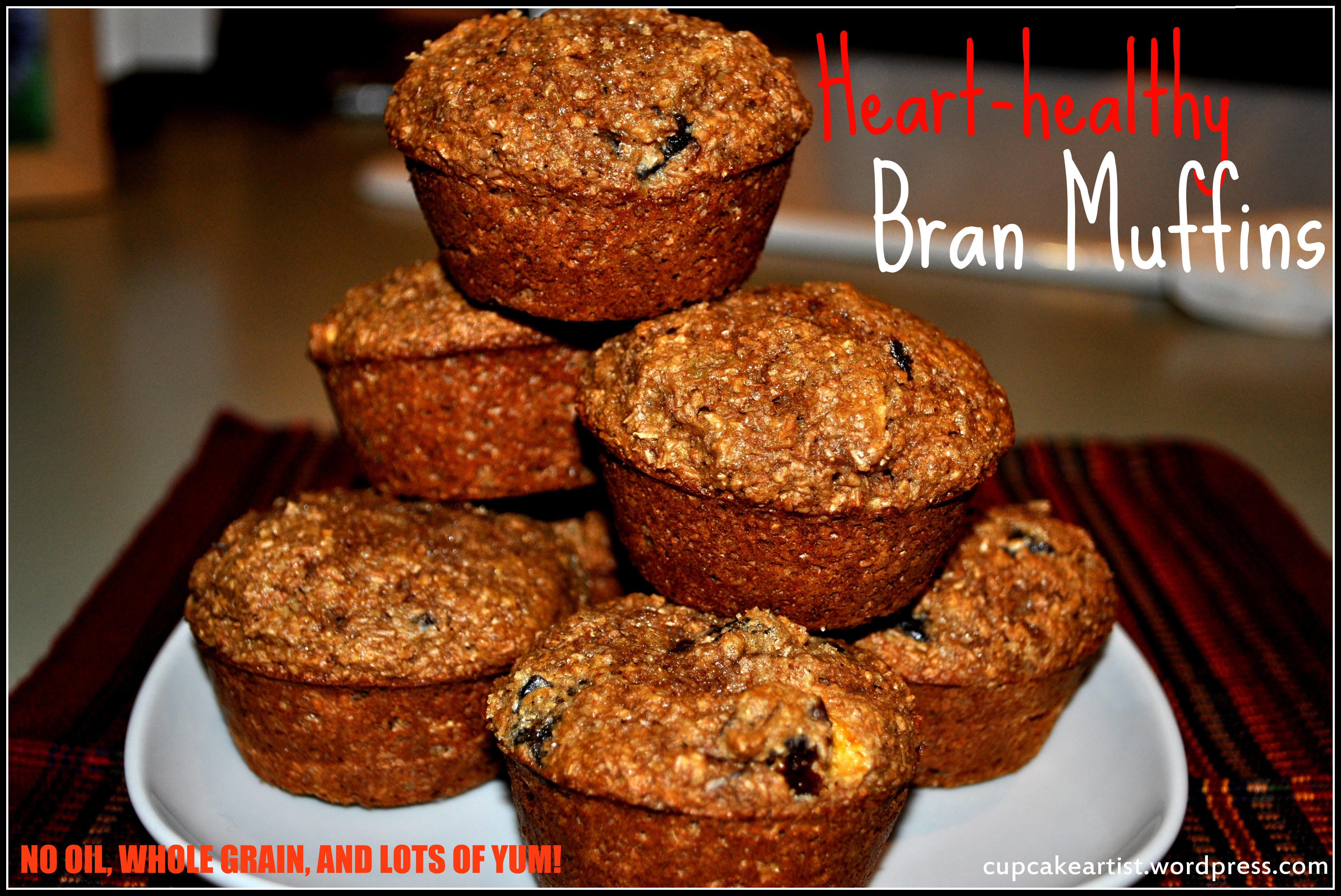 Heart Healthy Bran Muffins Oil Butter Whole