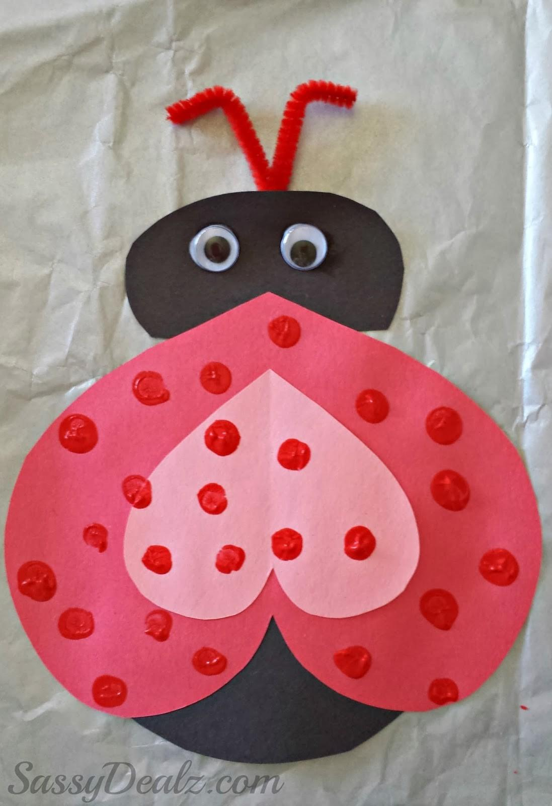 Heart Ladybug Valentines Day Craft Kids Crafty Morning