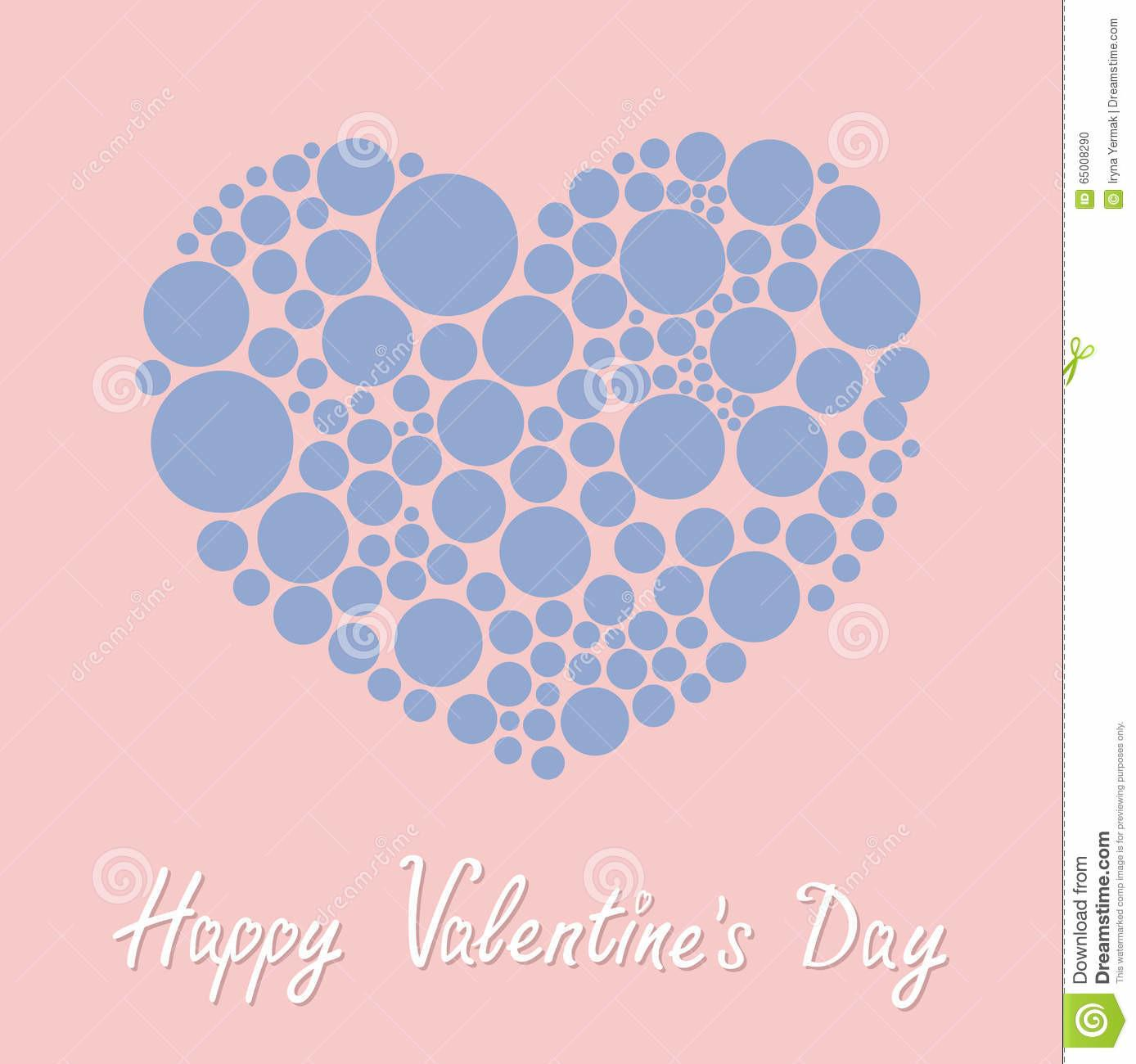 Heart Made Many Round Dots Happy Valentines Day Love