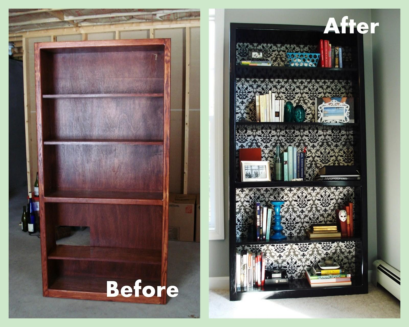 Heart Maine Home Office Bookcase Before After