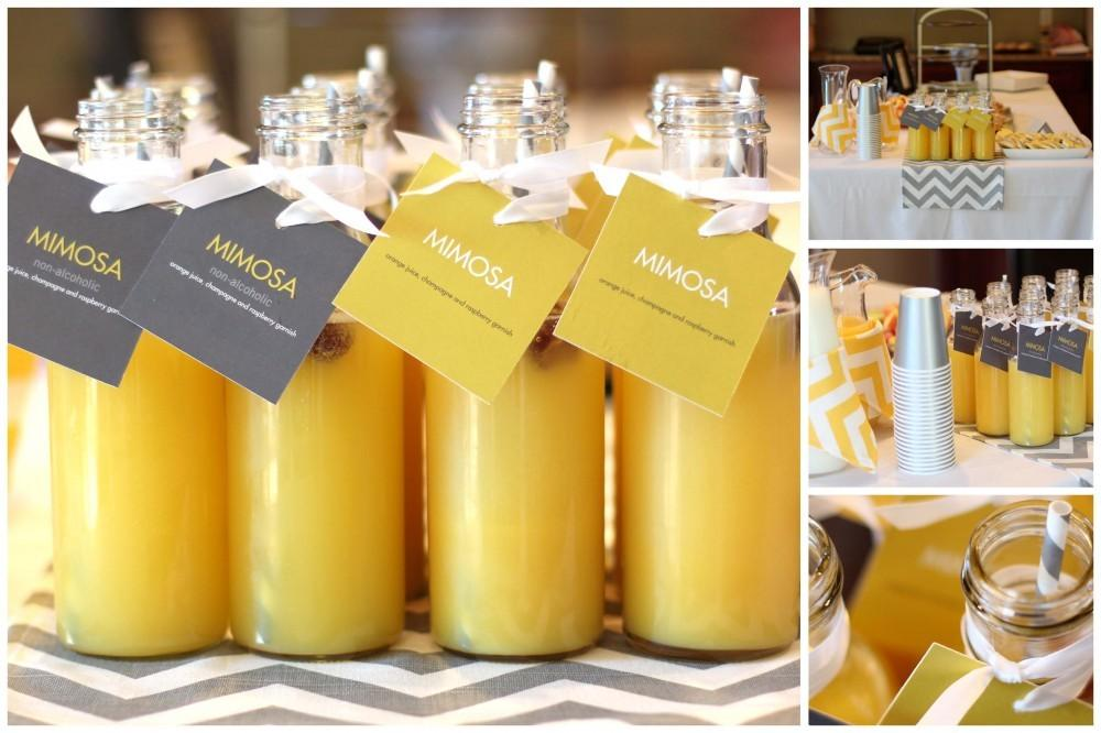 Heart Pears Baby Shower Drink Ideas