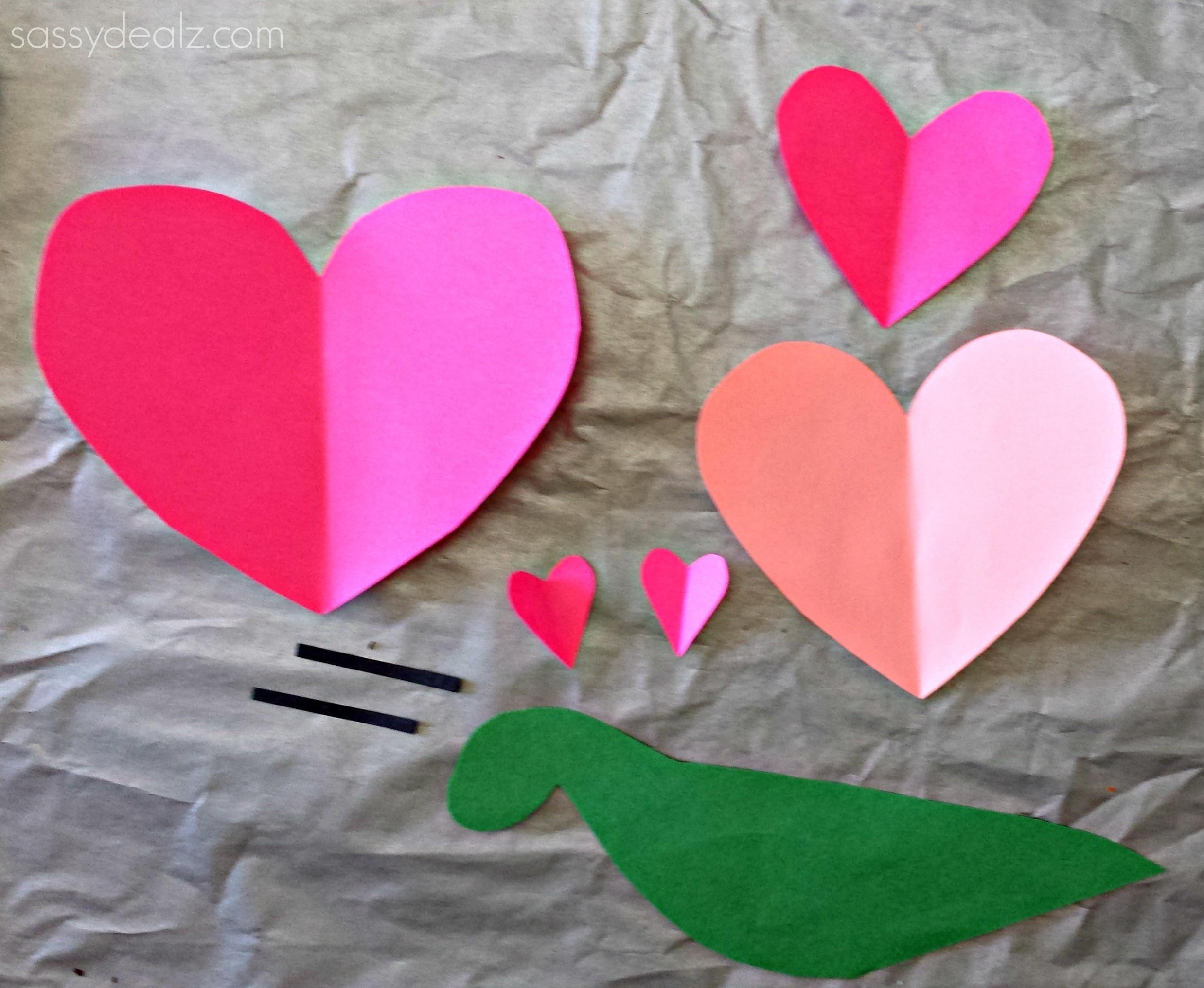 Heart Snail Craft Kids Valentine Art Project