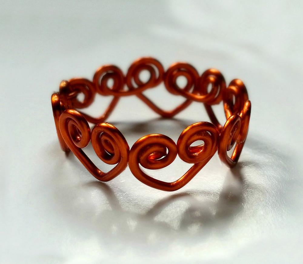 Heart Wrapped Diy Wire Ring Allfreejewelrymaking