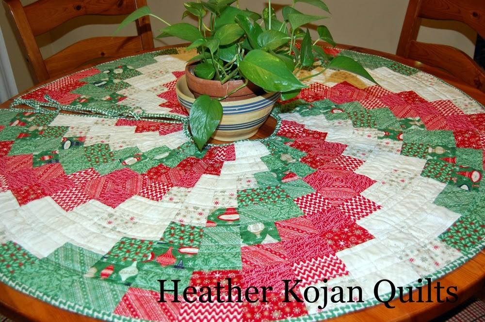 Heather Kojan Quilts Peppermint Swirl Christmas Tree