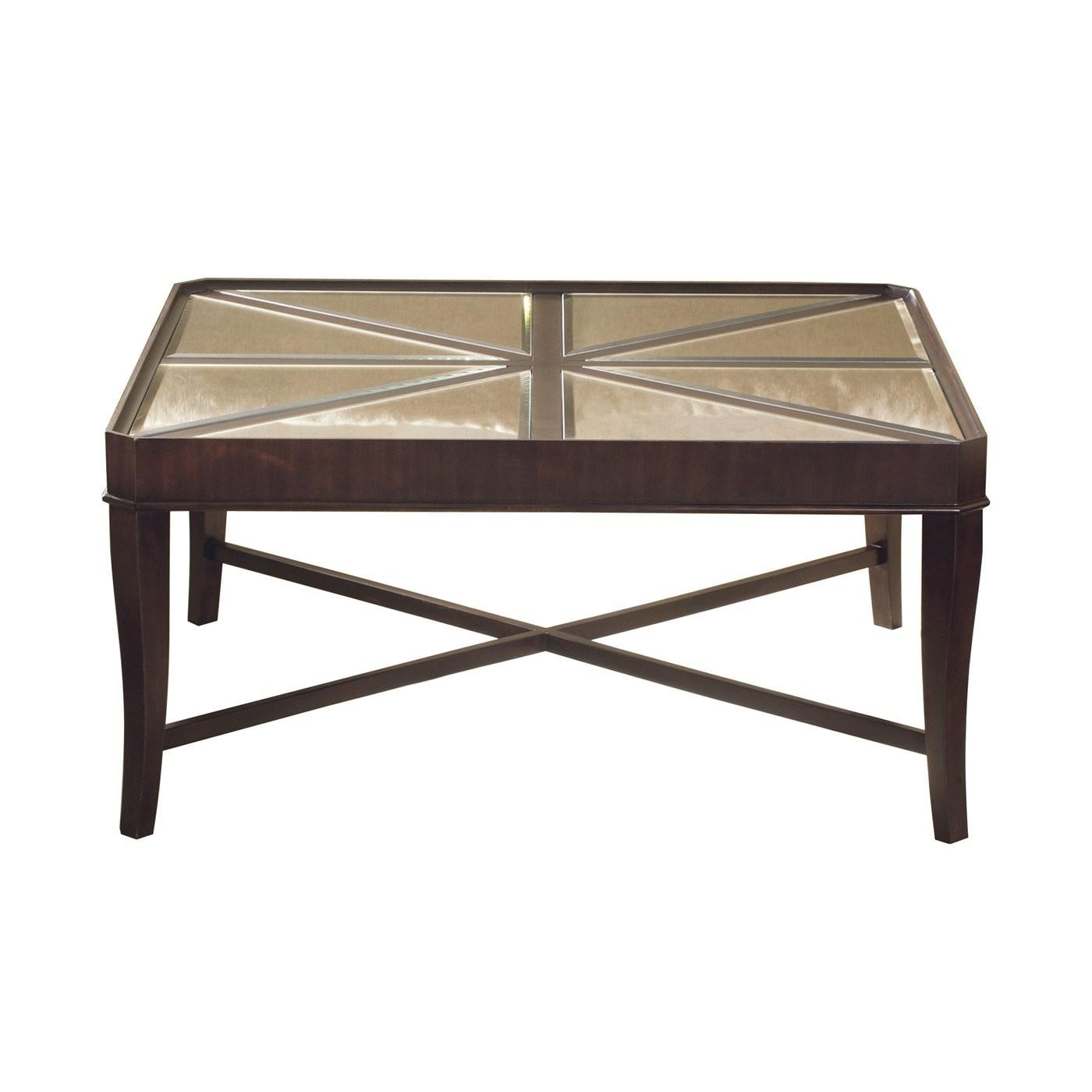 Hekman 401 Metropolis Square Mirrored Coffee Table Atg