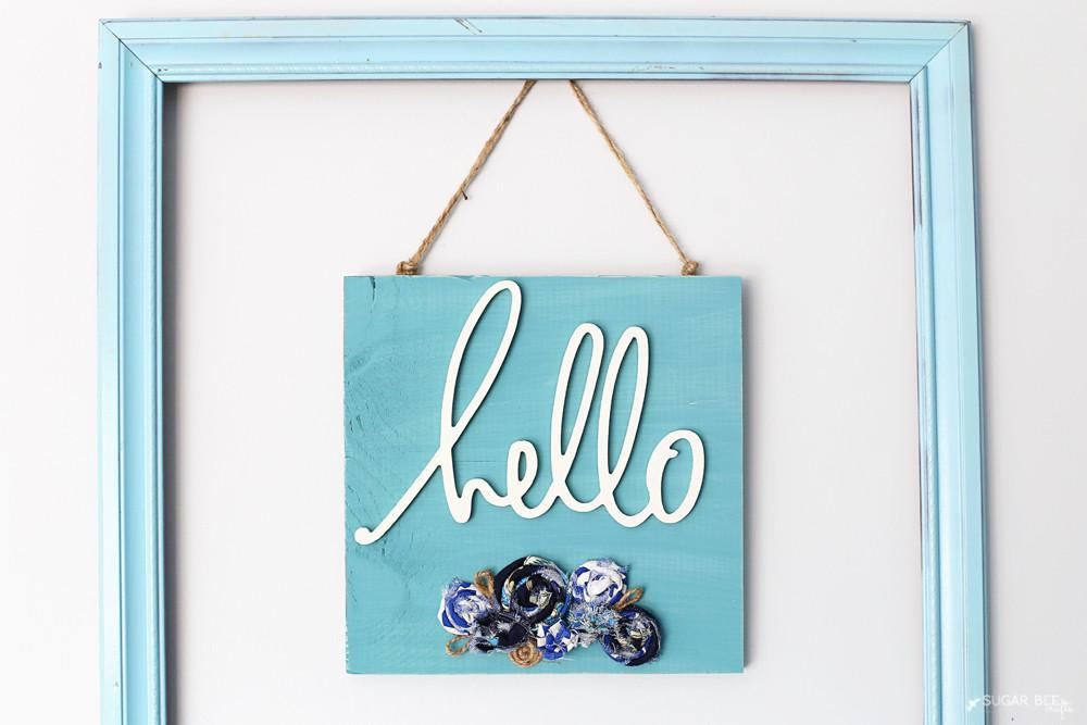 Hello Decor Sign Sugar Bee Crafts