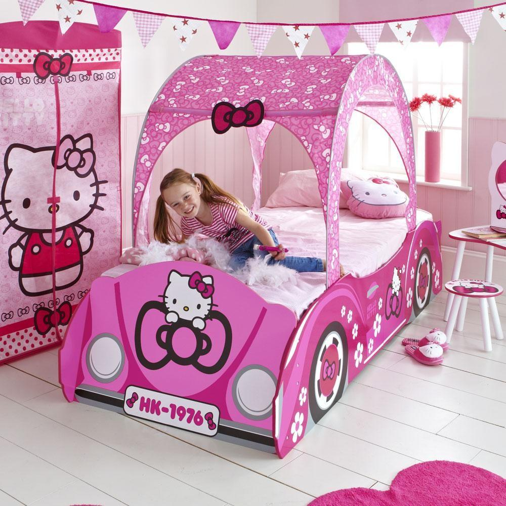 Hello Kitty Junior Toddler Bed Feature Car New Spring