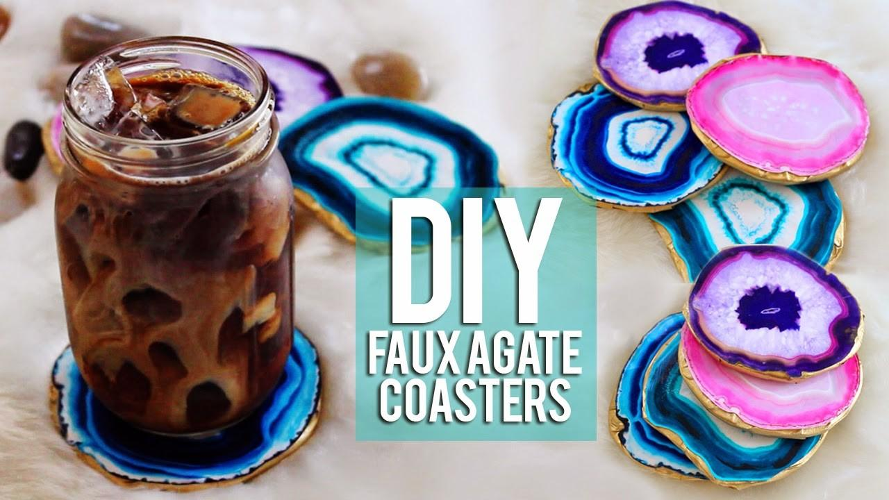 Hellomaphie Diy Faux Agate Coasters