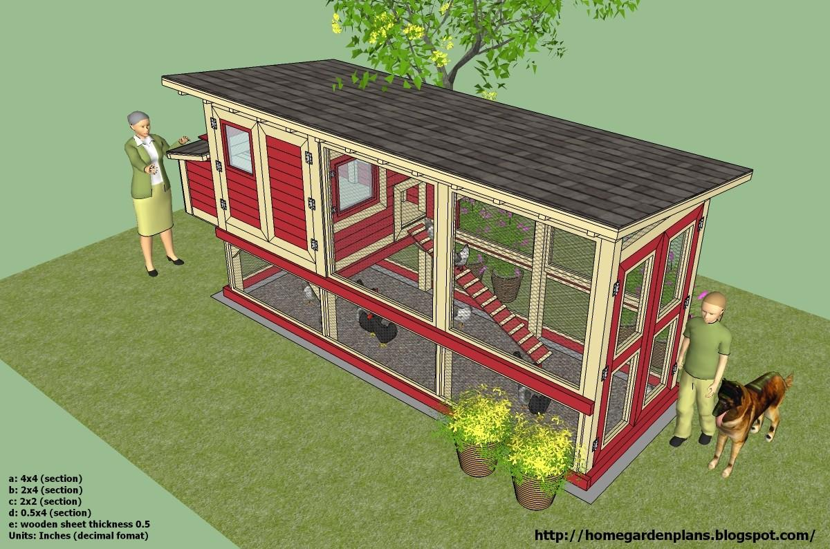 Hen Chicken Coop Plans