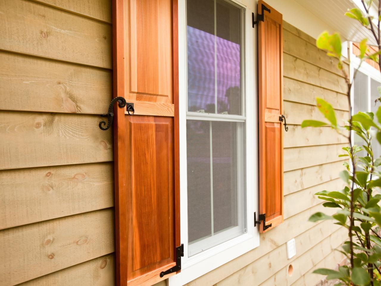 Here Four Types Exterior Window Shutters Diy