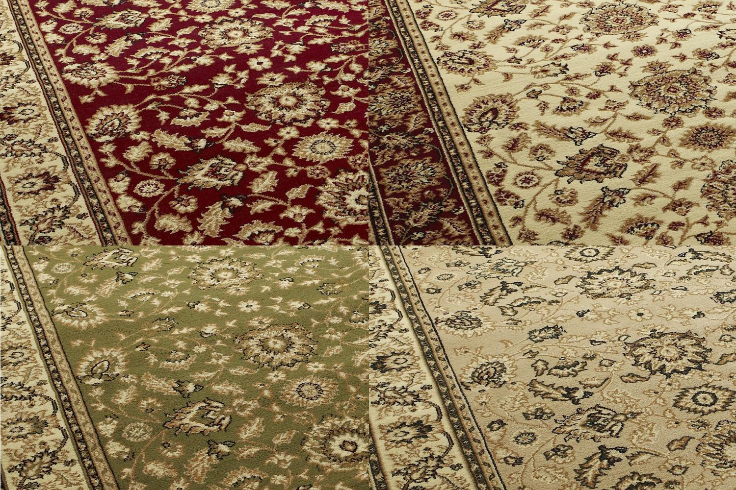Heritage Traditional Repetitive Pattern Rug Wool Look Pile