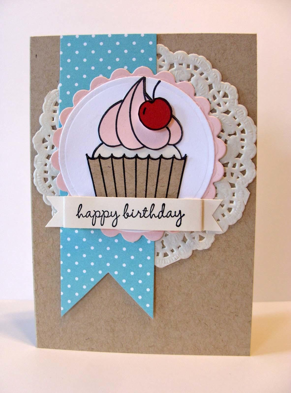 Hey Cupcake Diy Birthday Card Gift Bag Kitchen Table