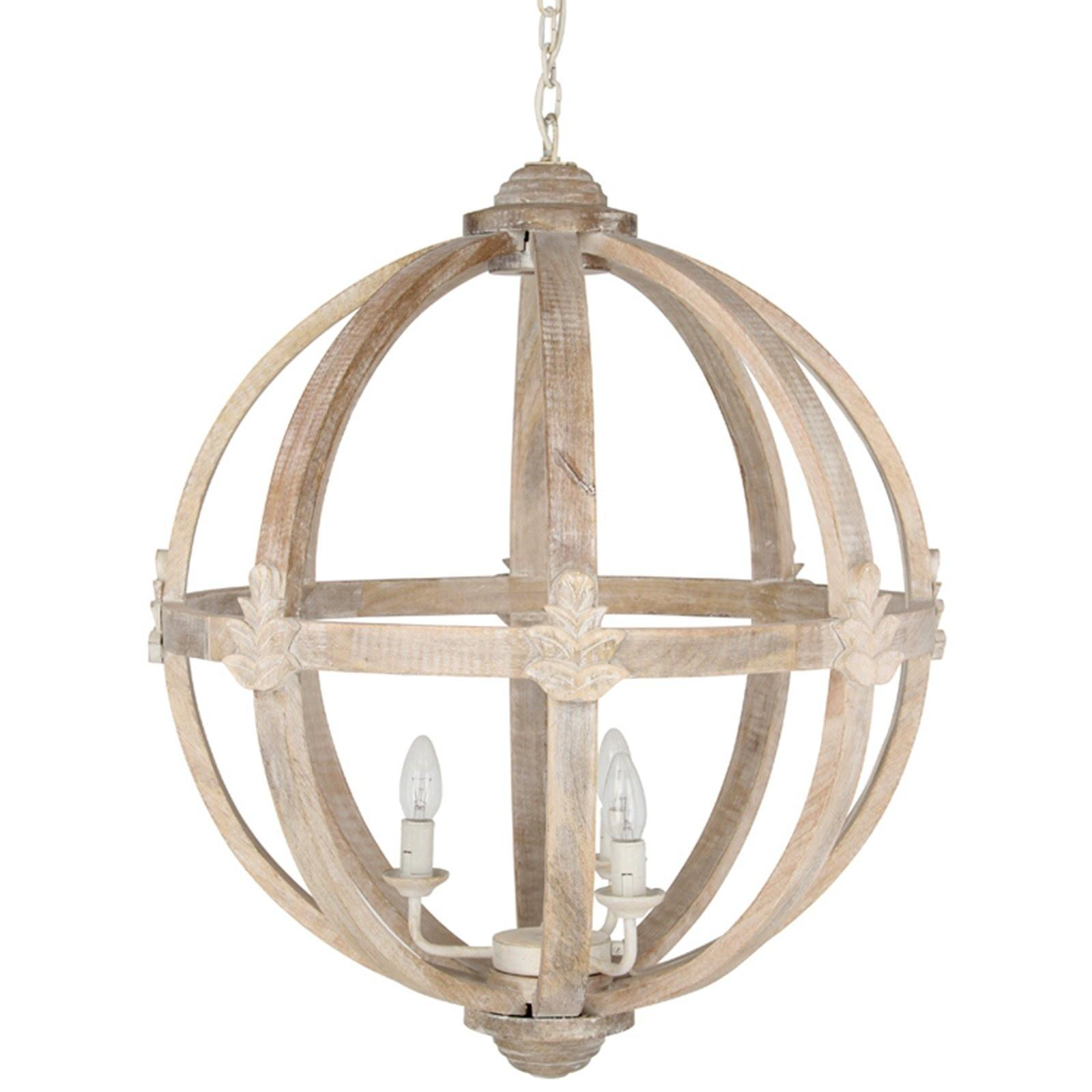 Hicks Dene Round Wood Pendant Light