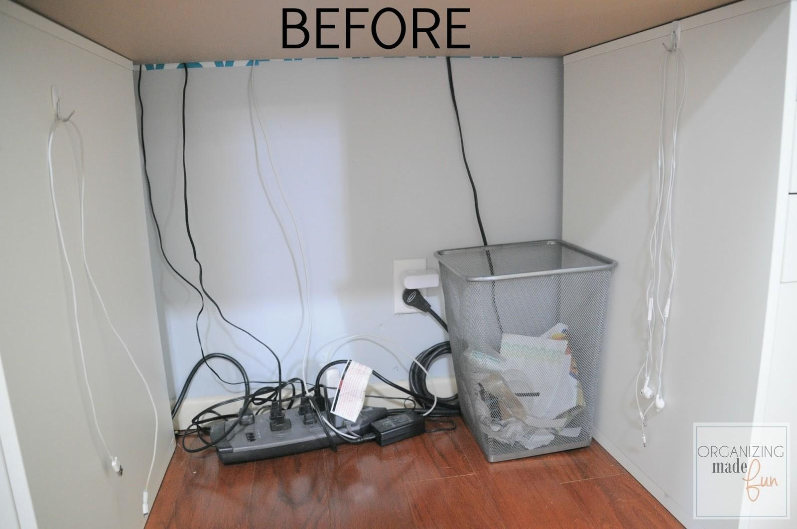 Hide Messy Cords Pegboard Organizing Made