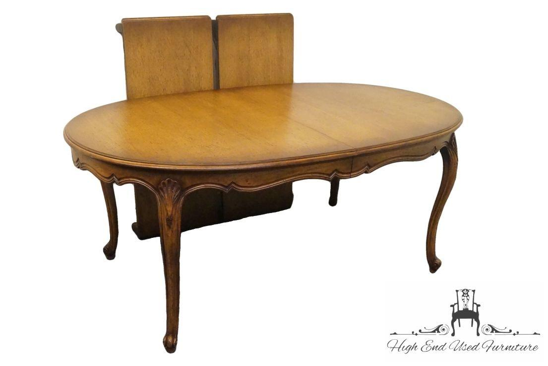 High End Country French Carved Fan 108 Oval Dining Table