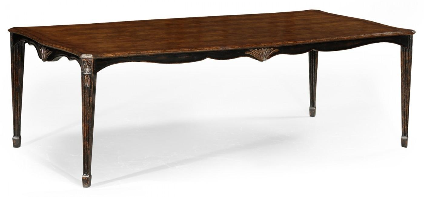 High End Dinning Room Furniture Black Painted Dining Table