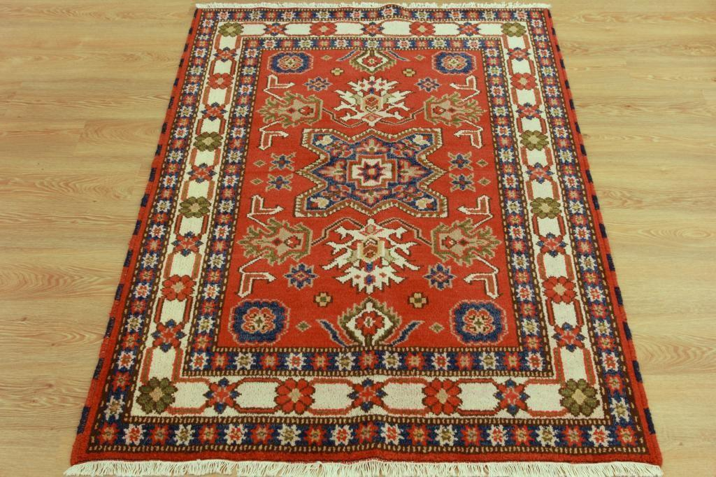 High End Handmade Wool Persian Fireplace Rug Terracotta