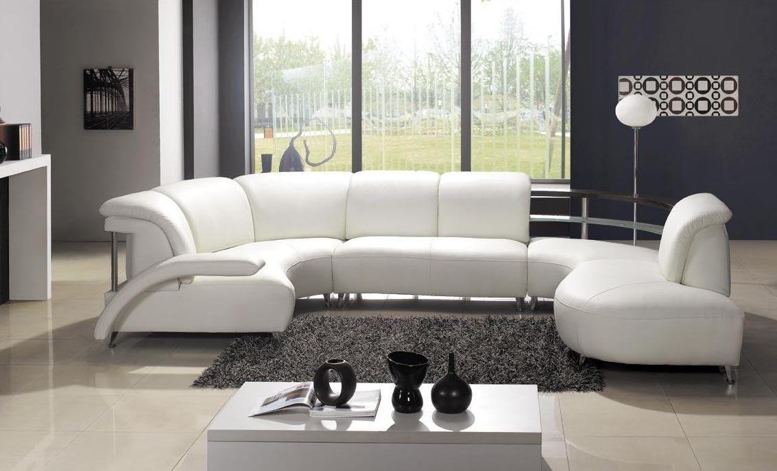 High End Modern Bonded Italian Design Sectional Seattle