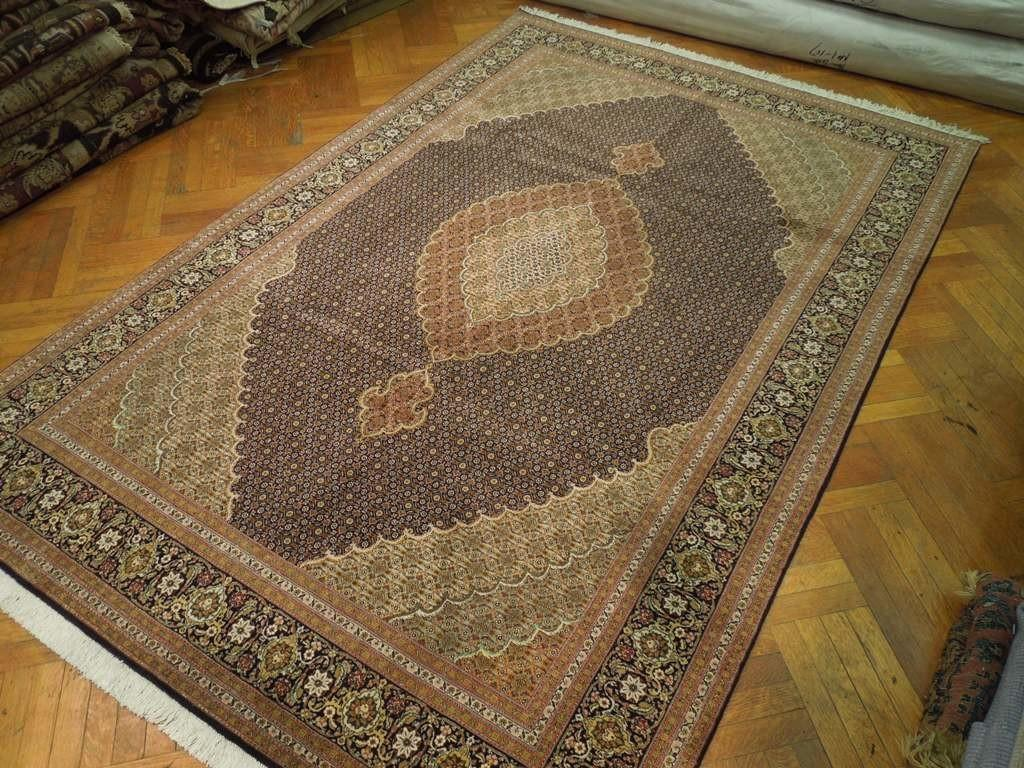 High End Persian Rug Tabriz Mahi Carpet 400 Kpsi