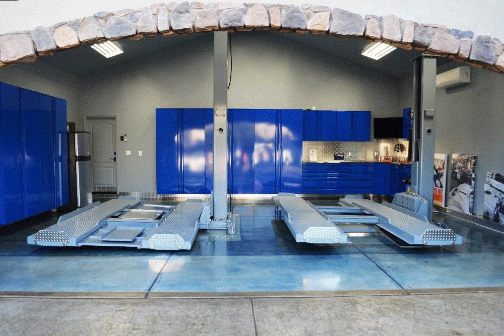 High End Residential Garage Renovation Using Forged
