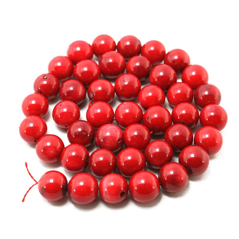 High Quality 10mm Red Coral Beads Natural Dyed Fit