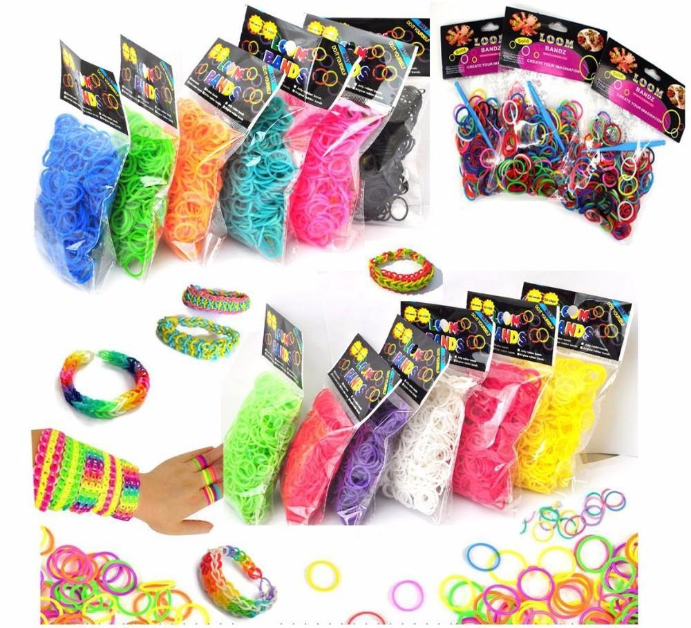 High Quality 300pcs Bands Candy Colorful Loom Rubber