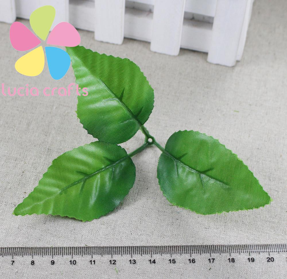High Quality 4cm Silk Cloth Leaves Floral Materials Diy