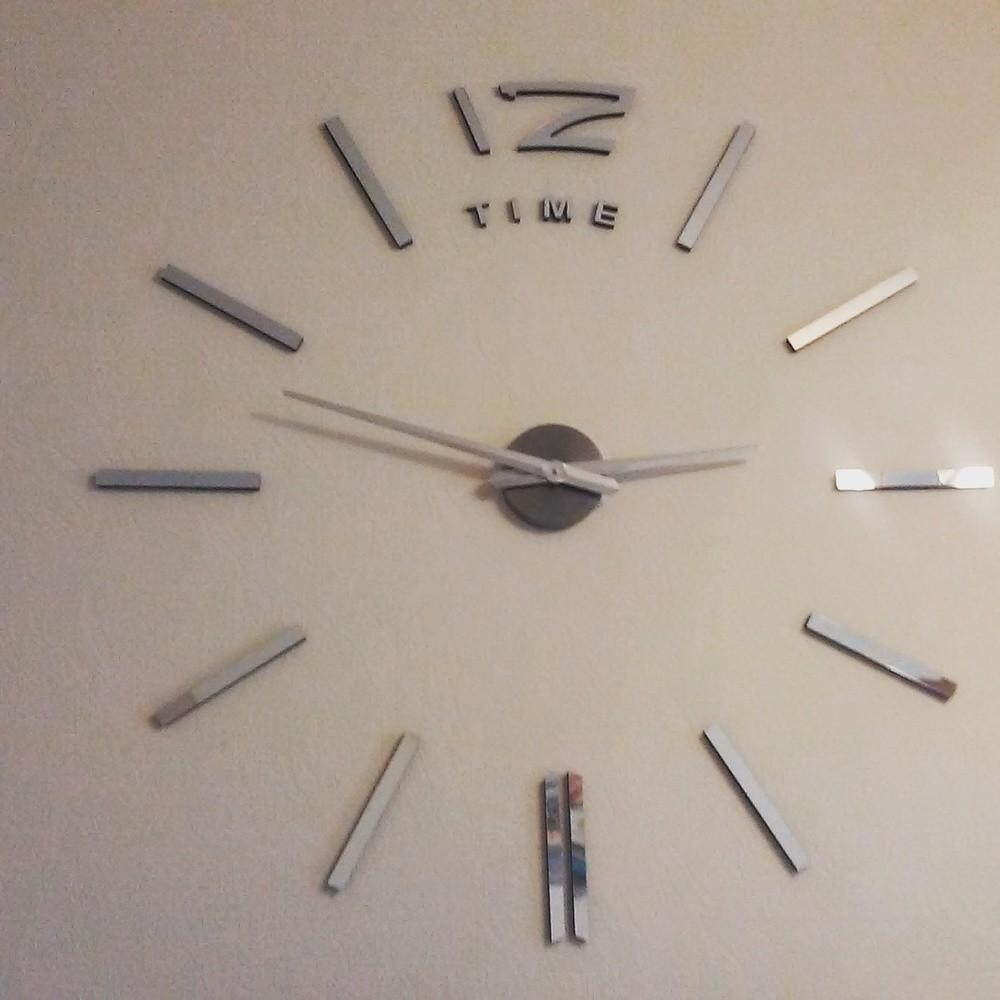 High Quality Large Diy Wall Clock Simple Adhesive