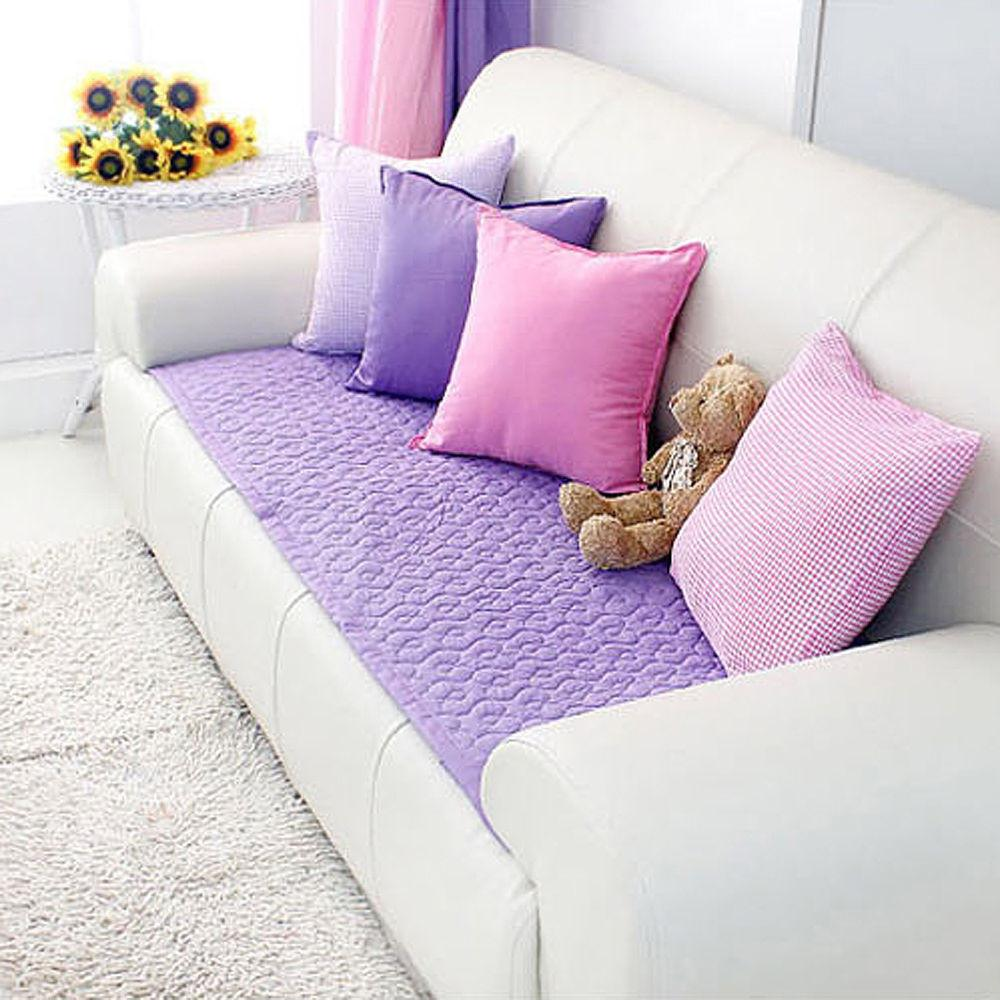 High Quality Sofa Cover 100 Cotton Quilted Pad Non Slip