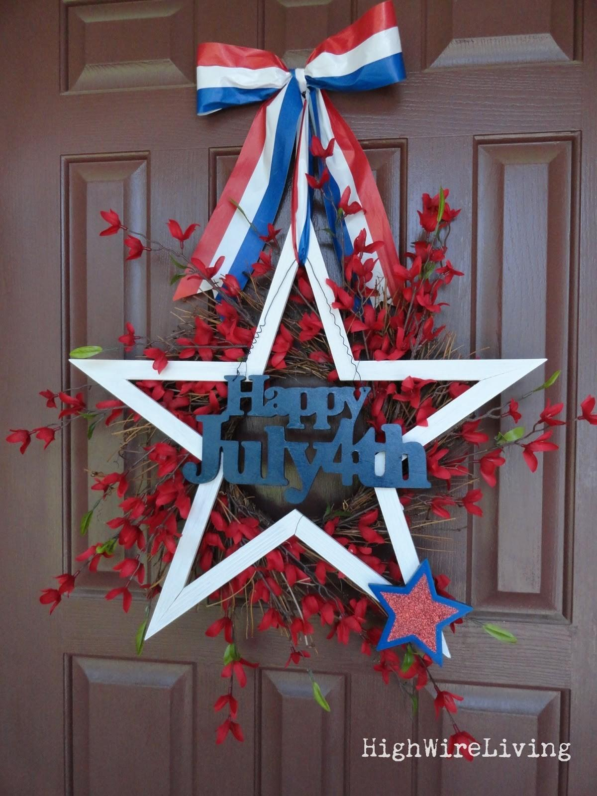 High Wire Living Fourth July Wreath