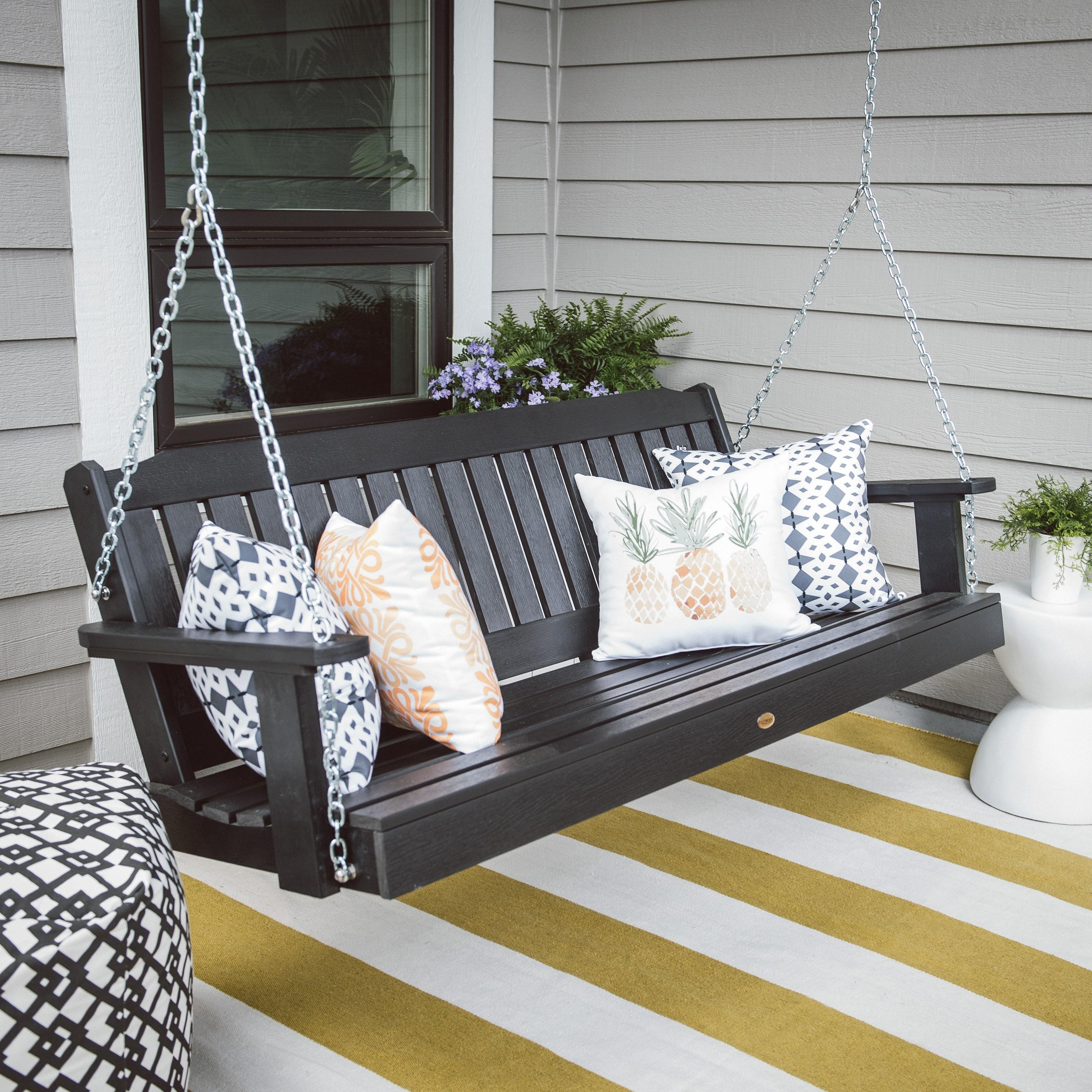 Highwood Lehigh Recycled Plastic Porch Swing