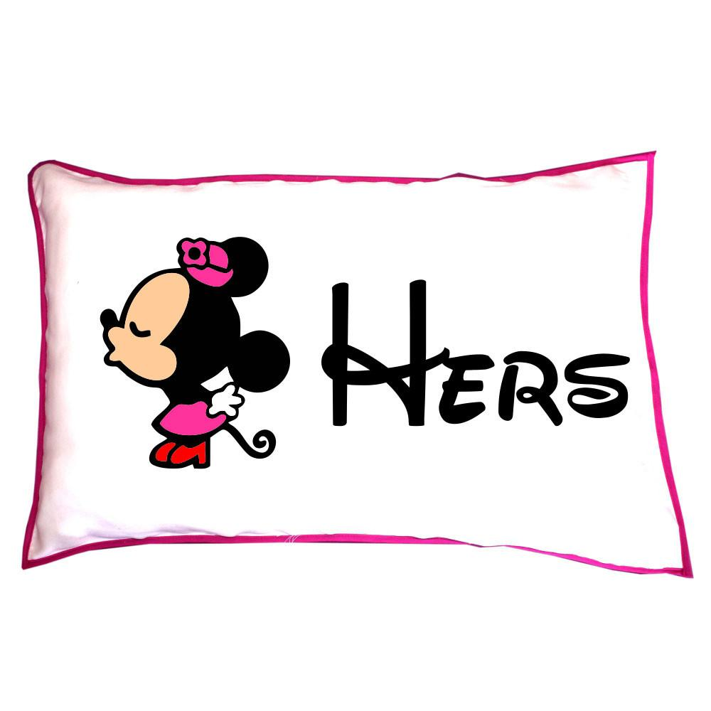 His Hers Mickey Minnie Couple Pillow Covers Set
