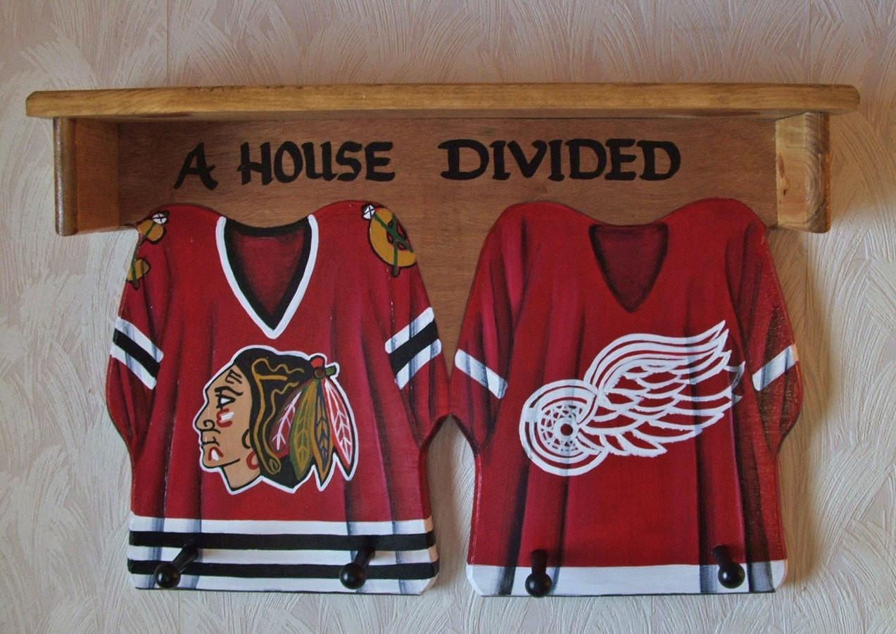 Hockey Jersey Wall Hanging Shelf Pegs